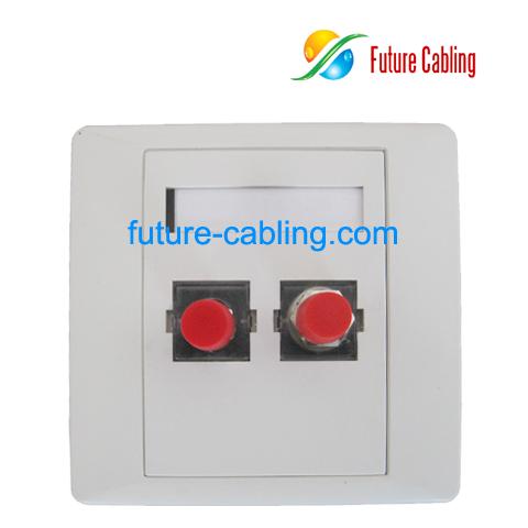 Wholesale Cheap Fc Fiber Optic Faceplate 2 Port For Sale
