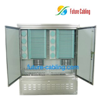 Fiber Optic Cross Connection Cabinet, Stainless Steel, 384 Fiber