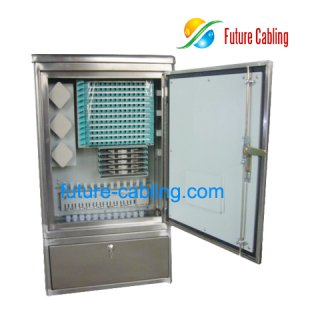 Fiber Optic Cross Connection Cabinet, Stainless Steel, 96 Fiber