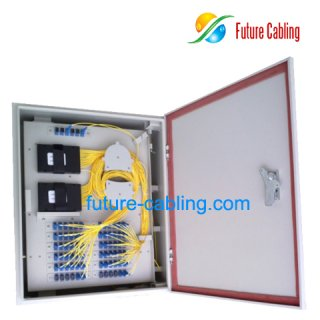 FTTH Splitter Distribution Box, 72 Ports, Suit for SC/ST/FC Fiber Optic Adapters