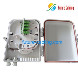 FTTH Splitter Distribution Box, 8 Ports, Suit for SC Fiber Optic Adapters