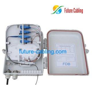 16 Fiber FTTH Splitter Distribution Box, Plastic, Outdoor Use