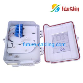 FTTH Splitter Distribution Box, 16 Ports, Suit for SC Fiber Optic Adapter