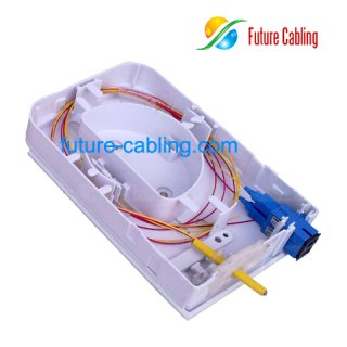 2-Fiber FTTH Terminal Box, Suit for SC and LC Fiber Optic Adapter