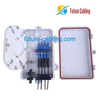 4-Fiber FTTH Terminal Box, Suit for SC Fiber Optic Adapters