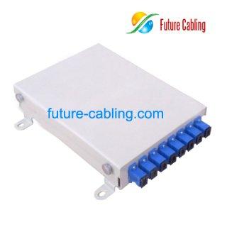 FTTH Fiber Optic Terminal Box, 8 Port, Metal