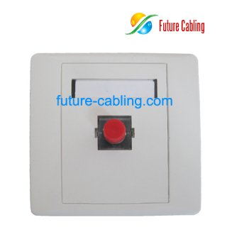 FC Fiber Optic Faceplate, 1 Port