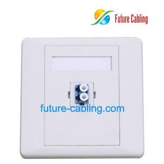 LC Fiber Optic Faceplate, 1 Port