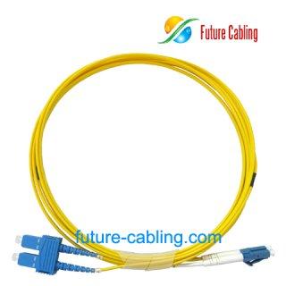 SC-LC Fiber Optic Patch Cords, Duplex, Singlemode, 9/125um, 2.0mm, XX Meter