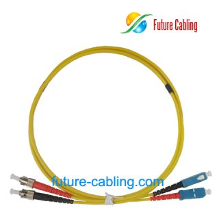 SC-ST Fiber Optic Patch Cords, Duplex, Singlemode, 9/125um, 3.0mm, XX Meter