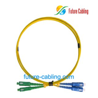 SC/APC-SC/PC Fiber Optic Patch Cords, Simplex, Singlemode, 9/125um, 3.0mm, XX Meter
