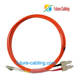 SC-LC Fiber Optic Patch Cords, Duplex, Multimode, 62.5/125um, 3.0mm, XX Meter