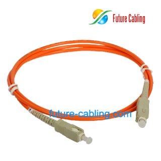 SC-SC Fiber Optic Patch Cords, Simplex, Multimode, 62.5/125um, 3.0mm, XX Meter