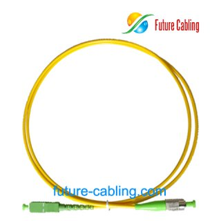 SC/APC-FC/APC Fiber Optic Patch Cords, Simplex, Singlemode, 9/125um, 3.0mm, XX Meter