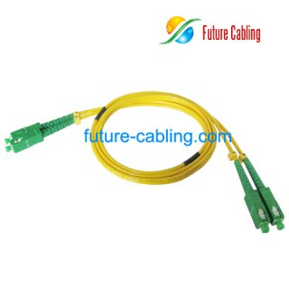 SC/APC-SC/APC Fiber Optic Patch Cords, Duplex, Singlemode, 9/125um, 3.0mm, XX Meter