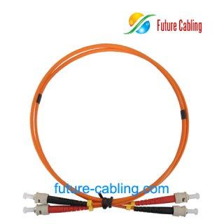 ST-ST Fiber Optic Patch Cords, Duplex, Multimode, 62.5/125um, 3.0mm, XX Meter