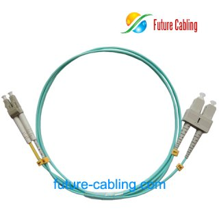 SC-LC 10 Gigabit Fiber Optic Patch Cords, Duplex, Multimode, 50/125um OM3, 2.0mm, XX Meter