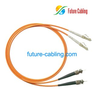 ST-LC Fiber Optic Patch Cords, Duplex, Multimode, 62.5/125um, 3.0mm, XX Meter
