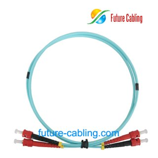 ST-ST 10 Gigabit Fiber Optic Patch Cords, Duplex, Multimode, 50/125um OM3, 3.0mm, XX Meter