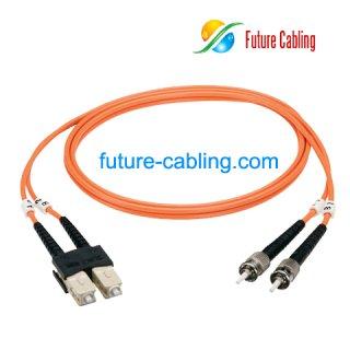 SC-ST Fiber Optic Patch Cords, Duplex, Multimode, 50/125um, OM2, 3.0mm, XX Meter