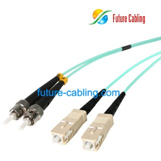 SC-ST 10 Gigabit Fiber Optic Patch Cable, Duplex, Multimode, 50/125um, OM3, 3.0mm, XX Meter