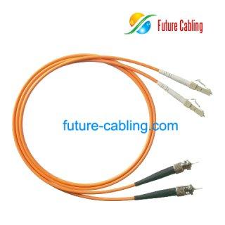 ST-LC Fiber Optic Patch Cords, Duplex, Multimode, 50/125um, OM2, 3.0mm, XX Meter
