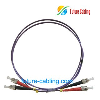 ST-ST Fiber Optic Patch Cords, Duplex, Multimode, 50/125um, OM2, 3.0mm, XX Meter