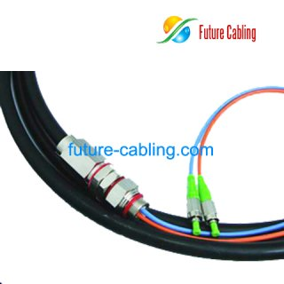 FC/APC Waterproof Fiber Optic Pigtail, Duplex, Singlemode