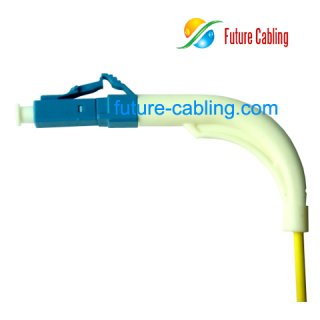 LC 90 Degree Fiber Optic Patch Cords, Simplex, Singlemode, 9/125um, 3.0mm