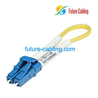 LC Fiber Optic Loopback Cable, Singlemode, 3.0mm