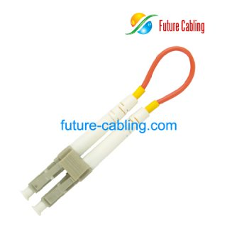 LC Fiber Optic Loopback Cable, Multimode, 3.0mm