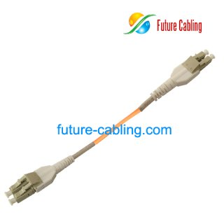 LC Uni-boot Fiber Optic Patch Cords, Duplex, Multimode, 62.5/125um, XX Meter
