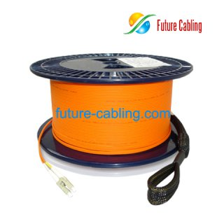 LC-LC Fiber Optic Pulling Eye Cable Assembly, Duplex, Multimode, 62.5/125um, XX Meter