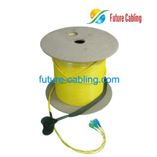 4 Fiber Pulling Eye Cable Assembly, SC-SC, Singlemode, 9/125um, with 2.0mm Branch, XX Meter