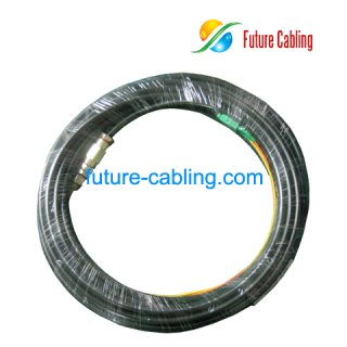 SC/APC Waterproof Fiber Optic Pigtail, Duplex, Singlemode