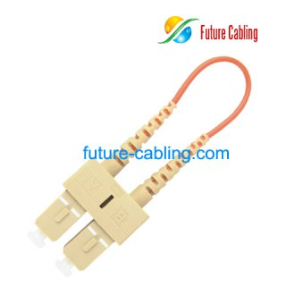 SC Fiber Optic Loopback Cable, Multimode, 3.0mm