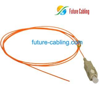SC Fiber Optic Pigtail, Multimode, 0.9mm