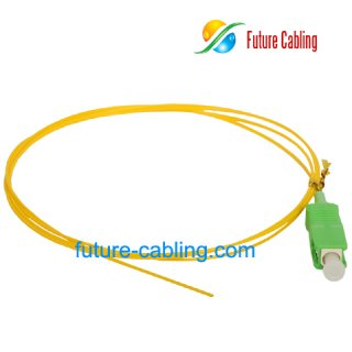 SC/APC Fiber Optic Pigtail, Singlemode, 0.9mm
