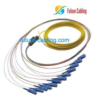 SC 12-Fiber Breakout Pigtail, Singlemode