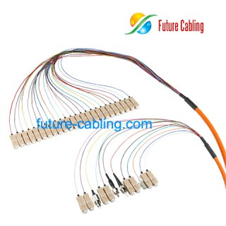 SC 24 Fiber Pigtail Bundles, Multimode