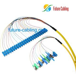 SC 24 Fiber Pigtail Bundles, Singlemode
