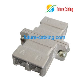 LC Fiber Optic Adapter with SC Footprint, Duplex, Singlemode, Metal Housing