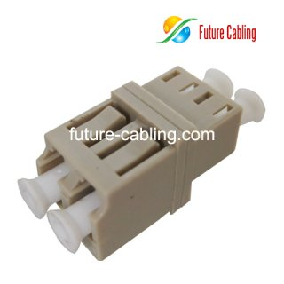LC Fiber Optic Adapter, Duplex, Multimode