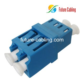 LC Fiber Optic Adapter, Duplex, Singlemode