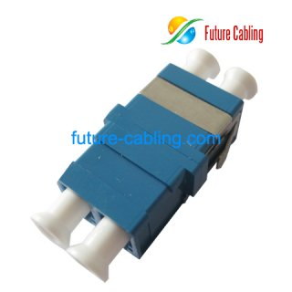 LC Flangeless Fiber Optic Adapter with SC Footprint, Duplex, Singlemode