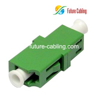 LC/APC Fiber Optic Adapter, Simplex, Singlemode