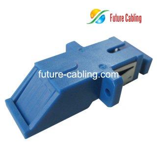 SC 45 Degree Push Type Fiber Optic Adapter, Simplex, Singlemode
