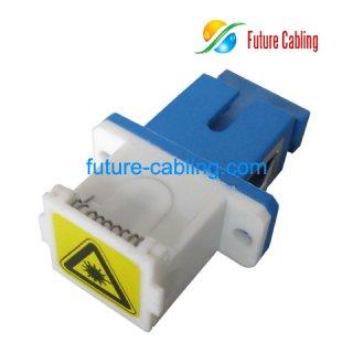 SC Fiber Optic Adapter, Simplex, Singlemode, with Shutter Dust Cover