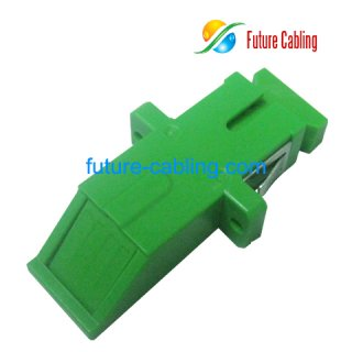 SC/APC 45 Degree Push Type Fiber Optic Adapter, Simplex, Singlemode