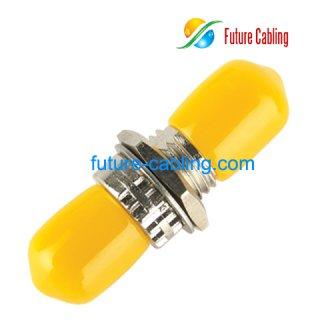 ST Fiber Optic Adapter, Simplex, Multimode, Metal Housing